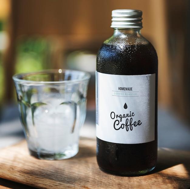 Bouteille de verre à café Photo Premium