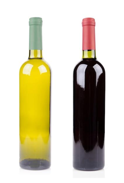 Bouteille De Vin Isolé Sur Blanc Photo gratuit