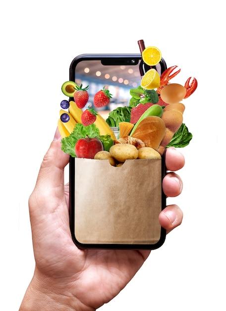 Boutique En Ligne Sur Téléphone Mobile Photo Premium