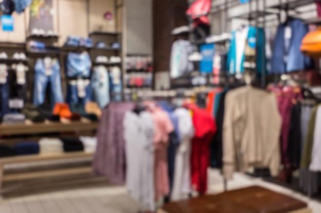 Boutique de vêtements abstraits floues Photo Premium