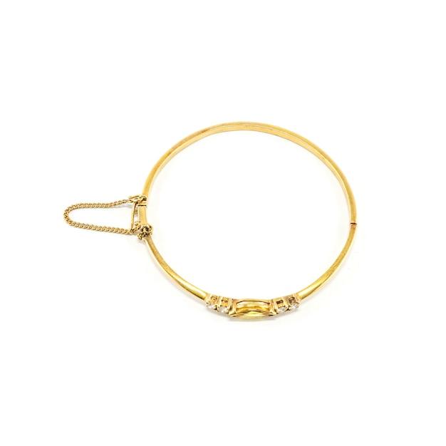 Bracelet en or isolé Photo Premium