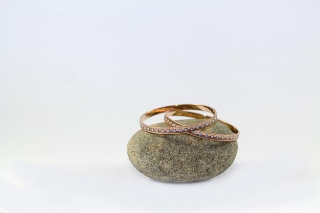 Bracelets de diamants en or rose Photo Premium