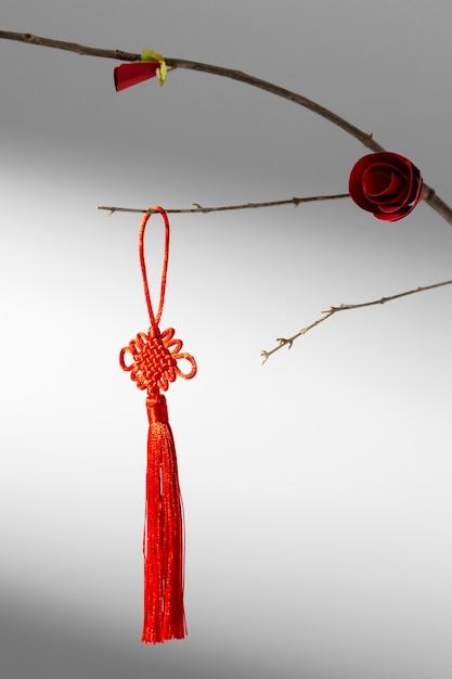Branche De Nouvel An Chinois 2021 Avec Fleur Et Décoration Photo gratuit