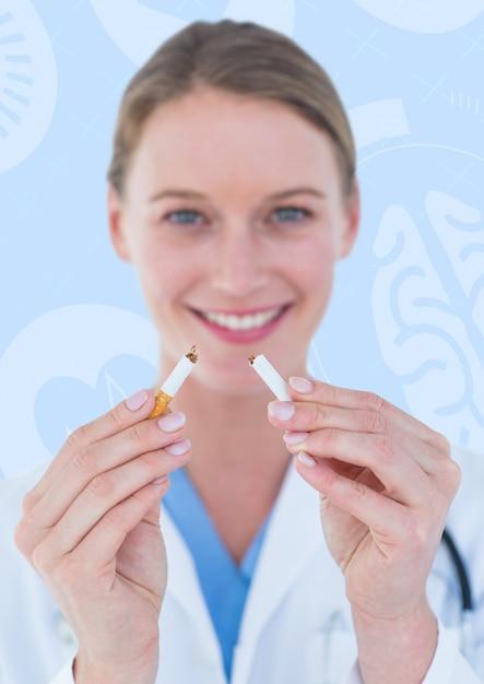 Bras de communication en colère battement de coeur cigarette Photo gratuit