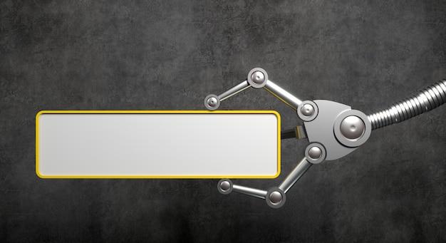 Bras Robotique Avec Bannière Vide Photo Premium