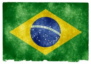 Brazil flag grunge Photo gratuit