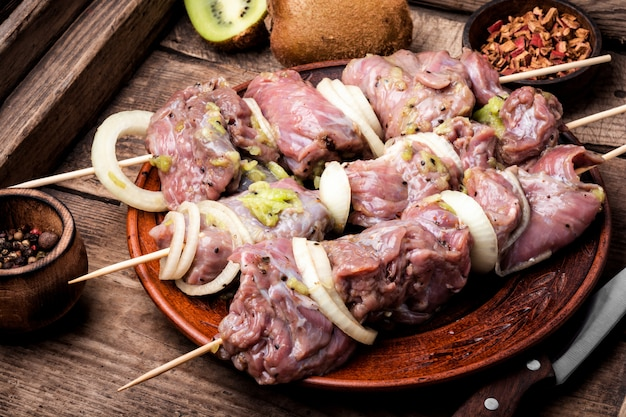Brochettes de shish kebab Photo Premium