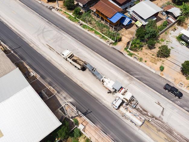 Broyeur d'asphalte Photo Premium