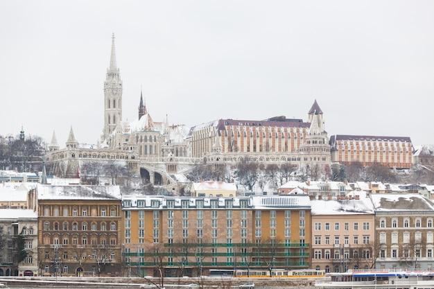 Budapest, château, côté buda, danube Photo Premium