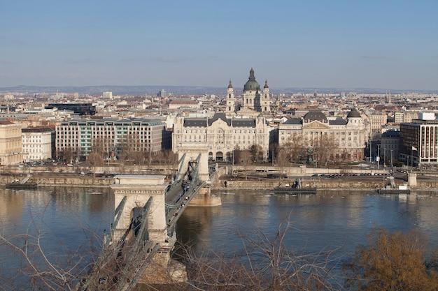 Budapest hongrie au centre ville Photo Premium