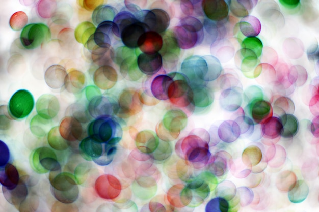 Bulles floues, boule de verre sur résumé avec fond coloré Photo Premium