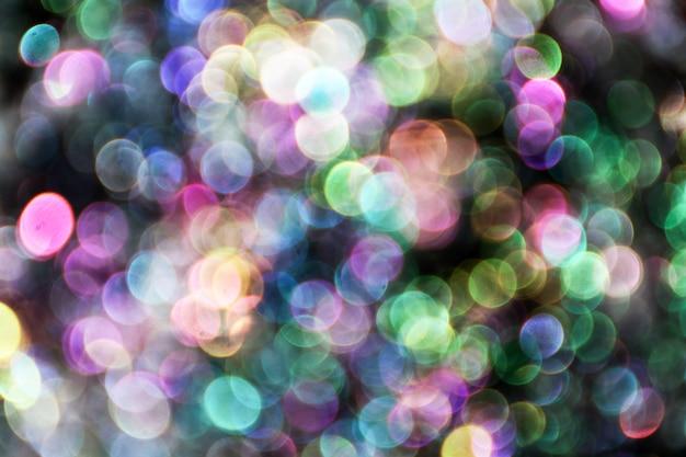 Bulles floues, boule de verre sur résumé avec noir coloré isolé Photo Premium