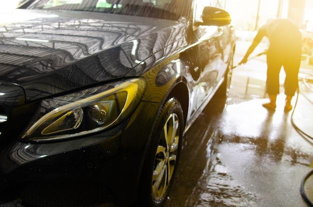 Bulles de lavage de voiture Photo Premium