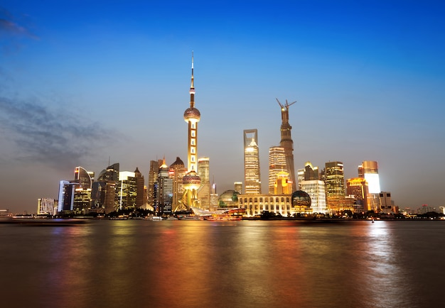 Le bund à shanghai Photo Premium