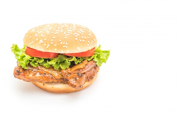 Burger de poulet grillé Photo Premium