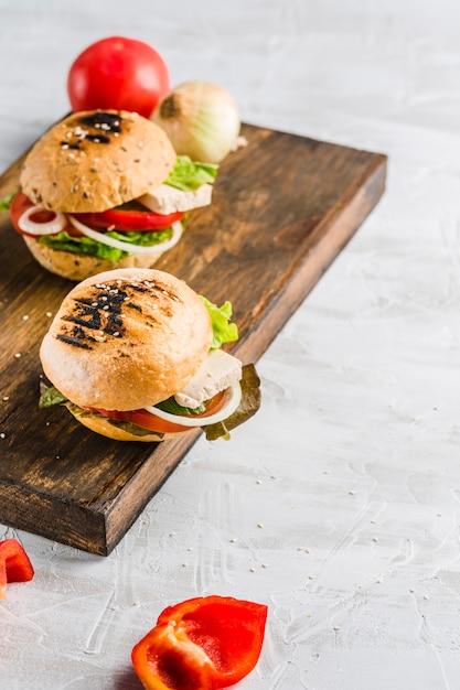 Burger végétalien Photo Premium