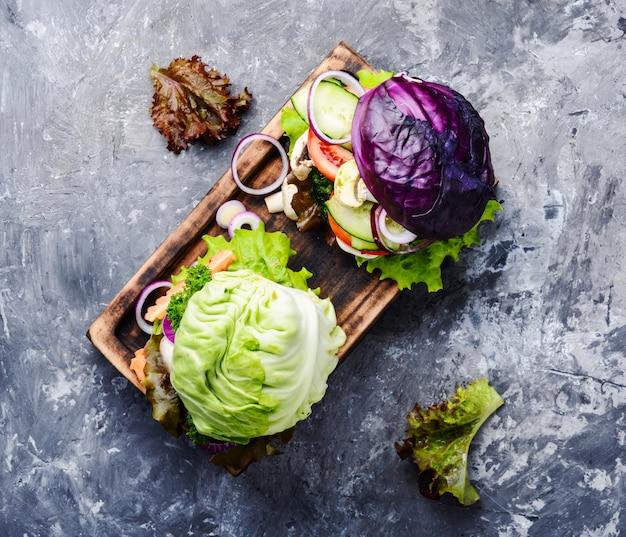 Burgers végétariens aux légumes Photo Premium
