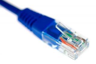 Câble ethernet macro cordon Photo gratuit