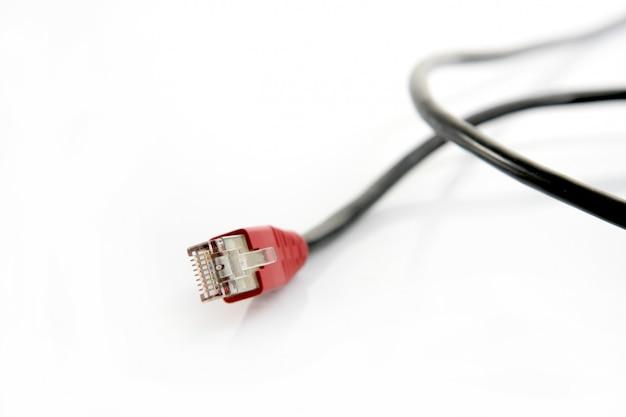 Câble ethernet rj45 isolé Photo Premium