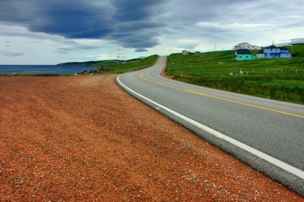 Cabot trail route panoramique hdr Photo gratuit