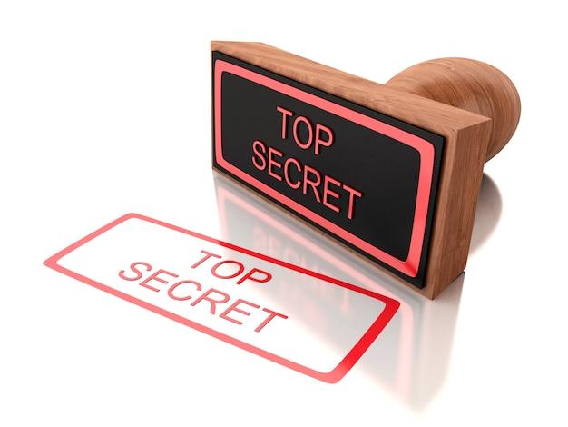 Cachet 3d top secret Photo Premium