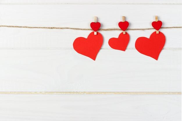 Cadeau De Saint Valentin Dans La Décoration De Vacances Photo Premium