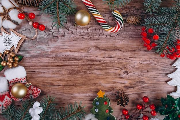 Cadeaux De Noël à Plat Photo gratuit