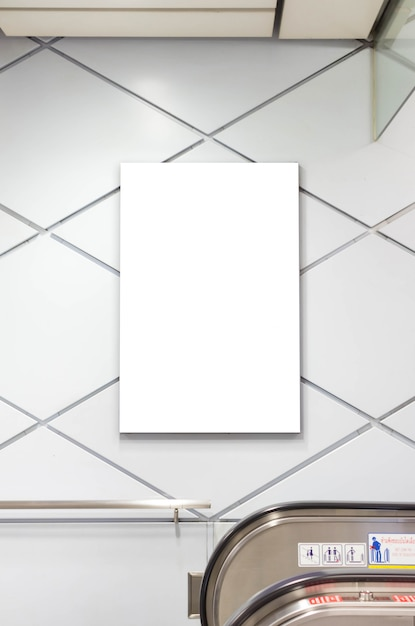 Cadre D'affiche Blanc Vierge Photo Premium