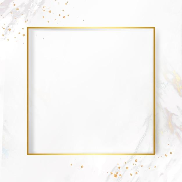 Cadre doré sur fond de marbre Photo gratuit