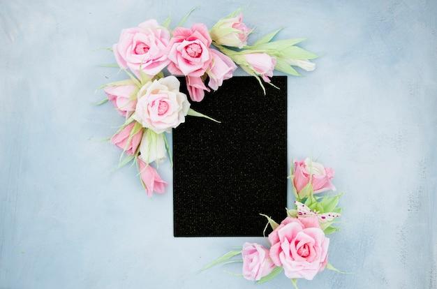 Cadre Floral Ornemental Plat Poser Photo gratuit