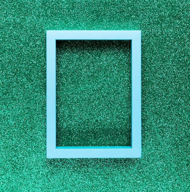 Cadre géométrique sur fond vert Photo gratuit
