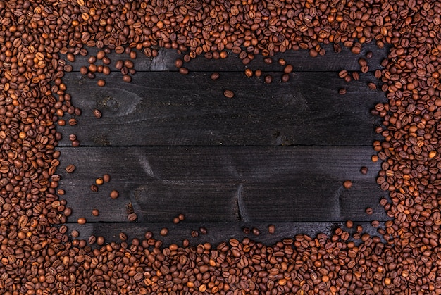 Cadre de grains de café. Photo Premium