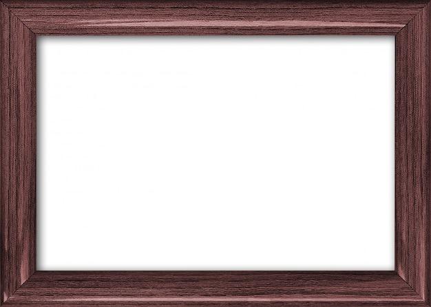 Cadre d'image vide avec une place libre à l'intérieur, isolé sur blanc Photo Premium