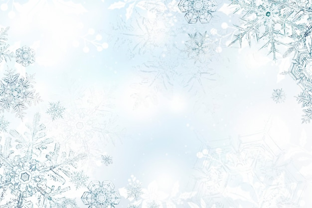 Cadre De Noël Flocon De Neige Salutations De La Saison, Remix De Photographie De Wilson Bentley Photo gratuit