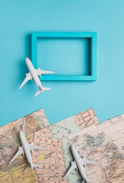 Cadre photo et avions modèles Photo gratuit
