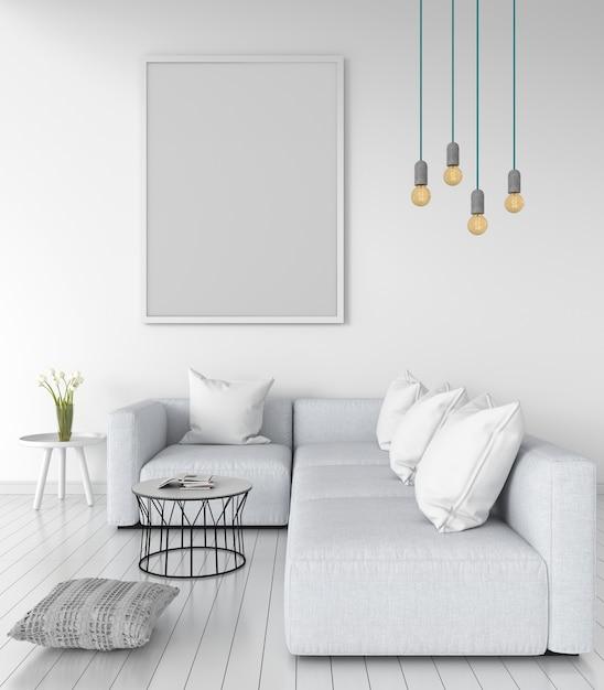 Cadre photo blanc pour maquette Photo Premium