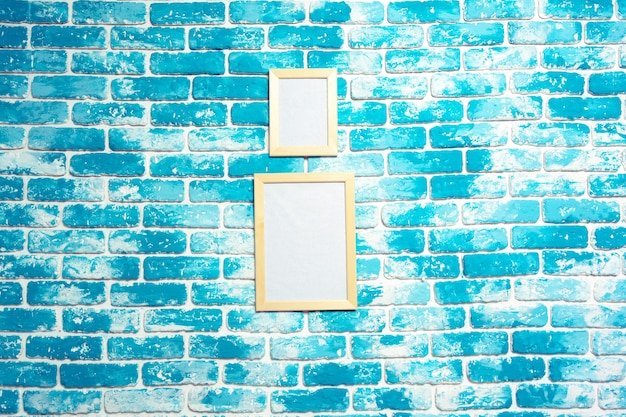 Cadre Photo Sur Mur De Briques Photo Premium