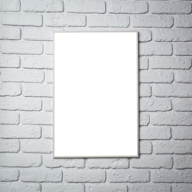 Cadre photo noir blanc sur le mur Photo Premium