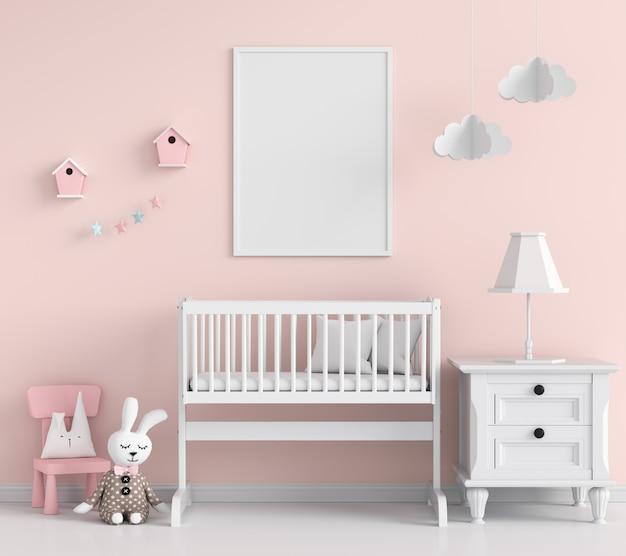 Cadre Photo Vide Dans La Chambre D'enfant Photo Premium