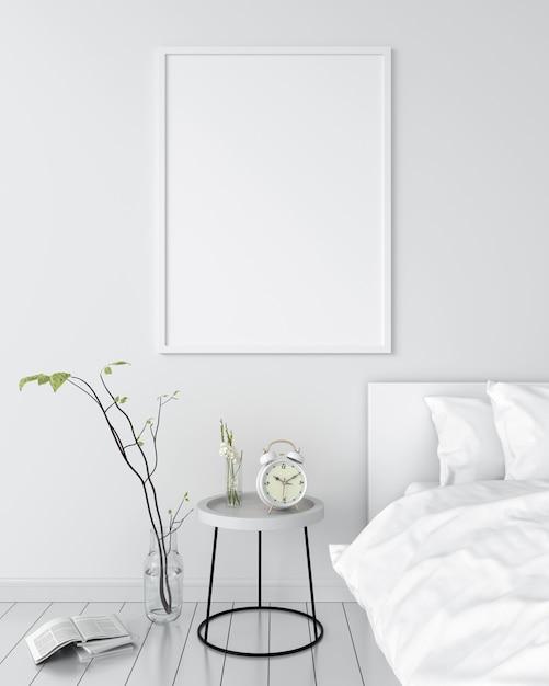 Cadre photo vierge pour maquette sur le mur Photo Premium