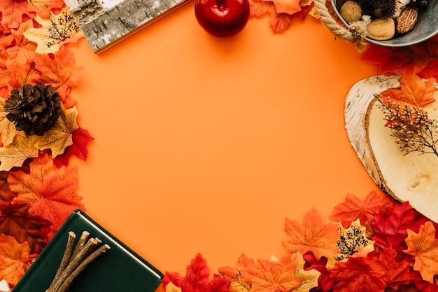 Cadre plat de détails de l'automne Photo gratuit