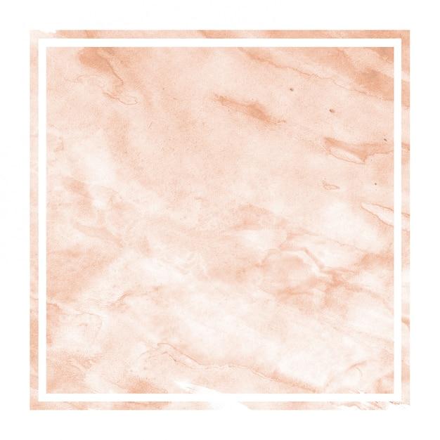 Cadre Rectangulaire Aquarelle Dessiné Main Orange Photo Premium
