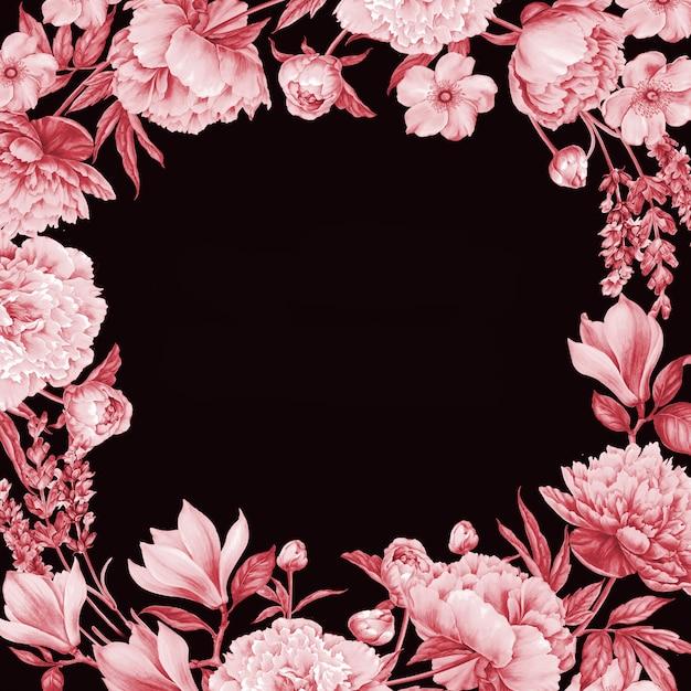 Cadre de roses rouges. Photo Premium