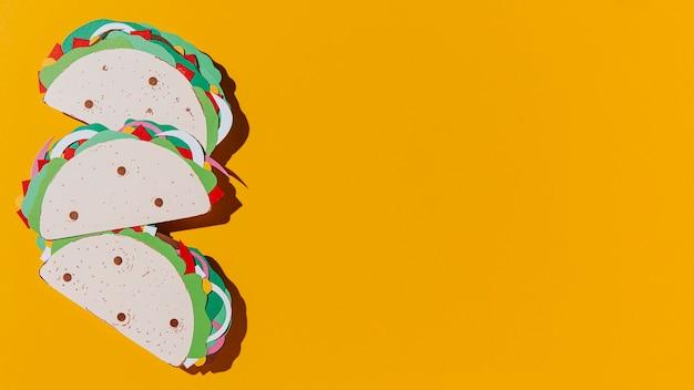 Cadre De Tacos En Papier Vue De Dessus Photo gratuit