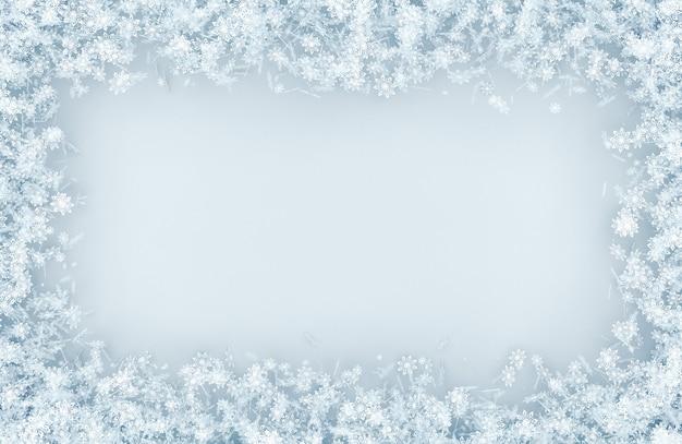 Cadre d'une variété de flocons de neige Photo Premium