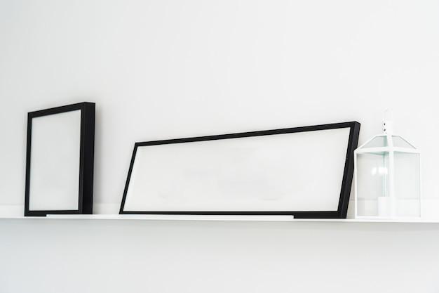 Cadre vide avec intérieur de décoration d'espace de copie Photo gratuit