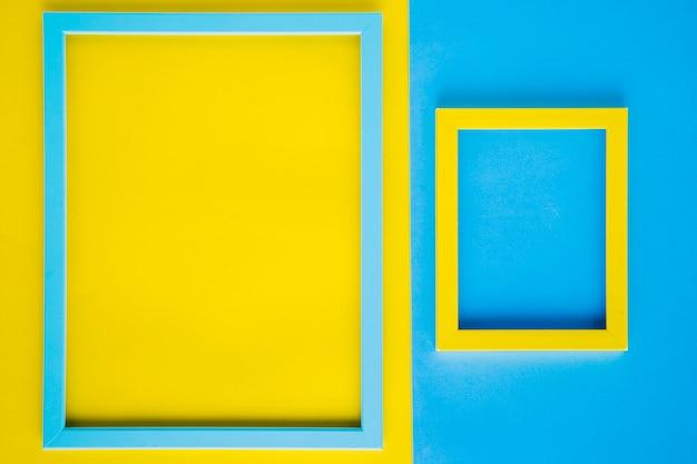 Cadres décoratifs minimalistes avec espace vide Photo gratuit