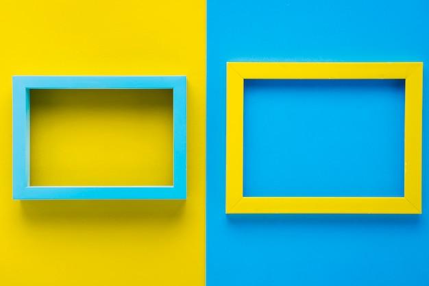 Cadres décoratifs minimalistes plats poser Photo gratuit
