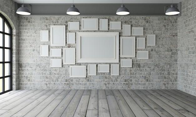 Cadres d'image inempty room Photo gratuit