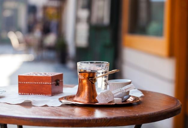 Café bosniaque traditionnel Photo Premium